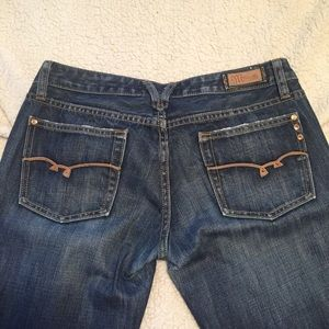Miss Me Jeans leather trim pocket inseam 30 1/2""